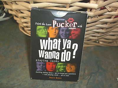 NEW 2001 Pucker Schnapps Deck of Playing Cards What ya Wanna Do? Dekuyper&SONS