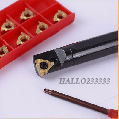 SNR0016Q16 External Boring Bar Tool Holder CNC with 16IR AG60 1020 Insert CNC