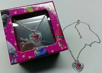 COLLANA bijoux TROLLS DREAM WORKS bigiotteria con cuore IDEA regalo