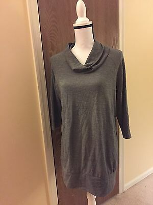 Oh Baby By Motherhood Womens Cowl Neck Long Sweater Top Gray SZ XL
