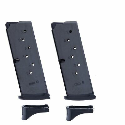 RUGER LC9 LC9S EC9s 9mm 7 Round Magazine w/ Finger Rest Factory 90642 (2PK)
