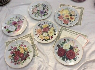 The Majesty Of Roses Plates Lot Of 6 New National Rose Society Franklin Mint