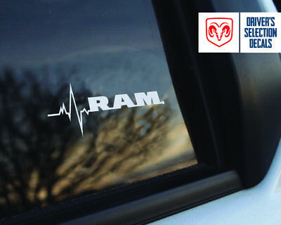 Dodge RAM is in my Blood window sticker decals graphic