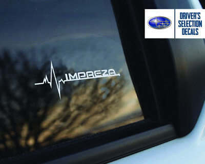 Subaru Impreza is in my Blood window sticker decals graphic