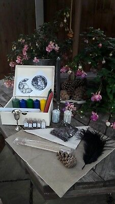 Hand Crafted Altar Box with 2x Disc of Shadows & more! #1 Pagan, Witch, Wicca