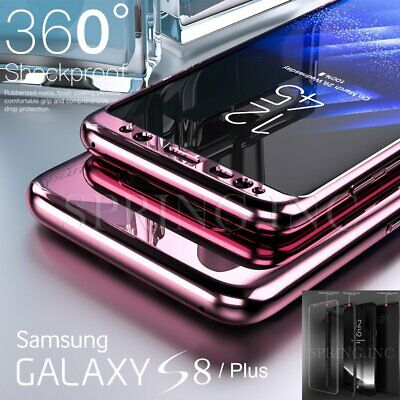 360° Full Cover Hybrid Shockproof Mirror Hard Case For Samsung Galaxy S8 S9 Plus