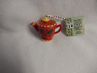 Christmas Mary Engelbreit 3.35''inches Porcelain Teapot Ornament-New