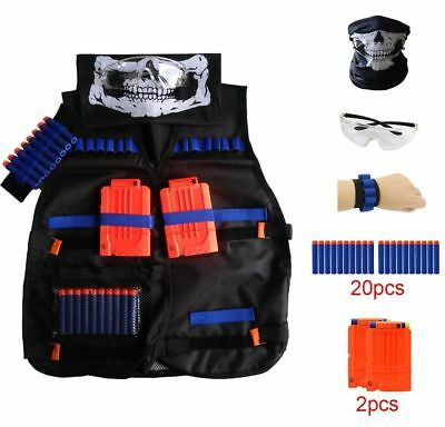 NERF Kids Jungle Camouflage Tactical Vest Jacket Accessories Kit Fun Gift Xmas