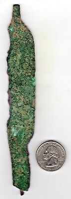 Unique Roman Iron Knife Blade Artifac Weapon Tool With Dual Handel Ends 3-500 Ad
