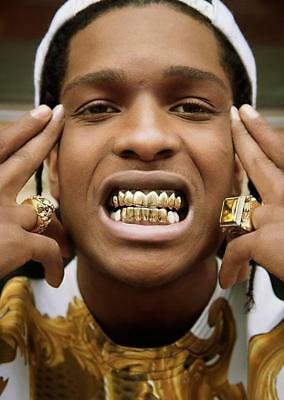 Gold Grill Tooth Clip Full Mouth Plated Teeth Cap Grills Bling Hip Hop UK