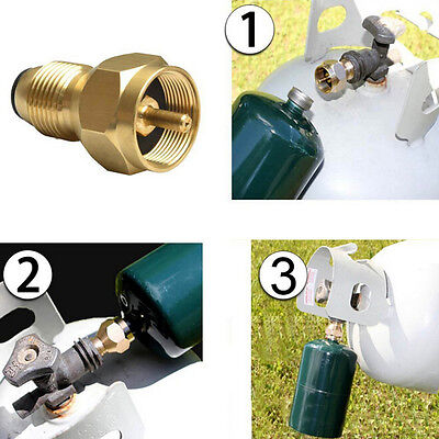 Propane Refill Adapter Gas Cylinder Tank Coupler Heater Camping Outdoor  0Z