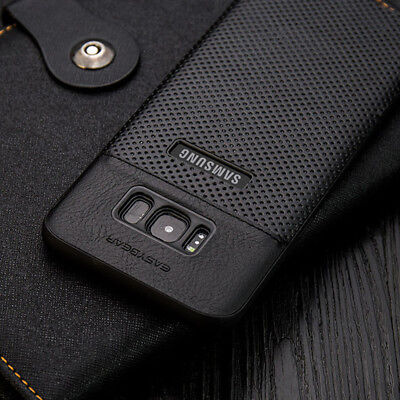 Samsung Galaxy S9/8 S10 Plus Luxury Slim Hybrid Hard Leather Back Case Cover For