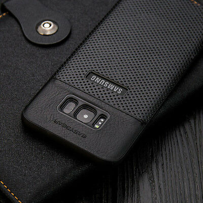 Samsung Galaxy S9 & S8 Note9 Luxury Slim Hybrid Hard Leather Back Case Cover For