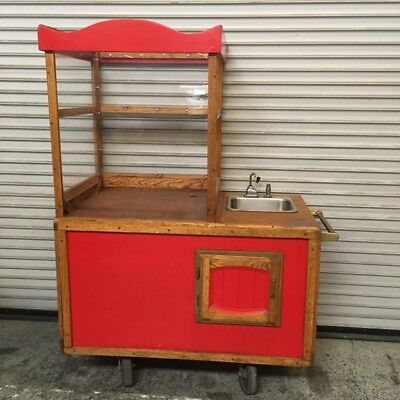 Vendor Concession Cart Kiosk w/ Hand Pump Sink #6896 Food Popcorn Selling Stand