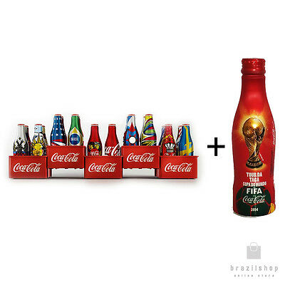 Coca Cola World Cup 2014 Mini Bottles Collection + Coke Brazil Aluminum Bottle
