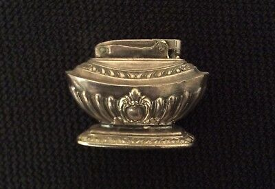 Ronson vintage lighter, silver, rococo style