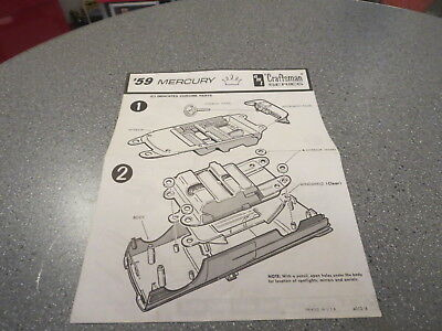 Model Kit Instruction Sheet 59 Mercury  Craftsman Series