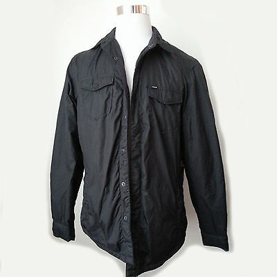 Hurley men's Size M Black Fully Fleece Lined Windbreaker jacket new with tag