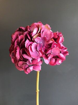 Extra large hot pink faux silk mophead hydrangea realistic extra large hot pink faux silk mophead hydrangea realistic artificial flower mightylinksfo