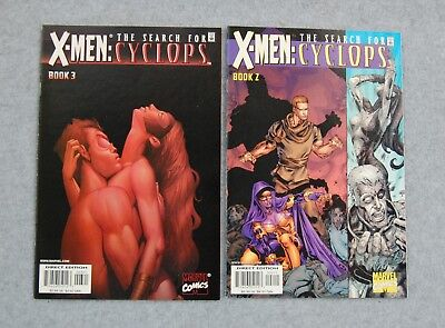 Comic Book Lot 2 Marvel X-Men The Search for Cyclops 2001 Vol 1 #2 Jan, #3 Feb