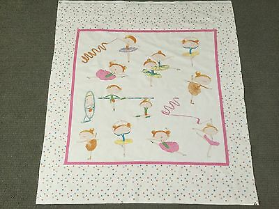 Ballerina Fabric Panel Dance Fabric Quilting Panels Baby Girl Quilt Panel Fabric