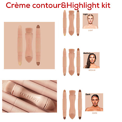 New!Contour Stick Creamy Contouring Highlighter Stick Contour Brush! 2 in 1 Set!