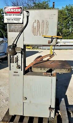 "Grob 18"" Model NS18 vertical bandsaw w/blade welder"
