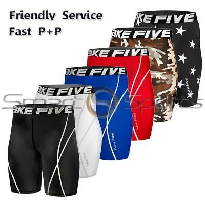 New Mens Compression Pants Sports Base Layer Shorts Tights Workout Take 5 Gym