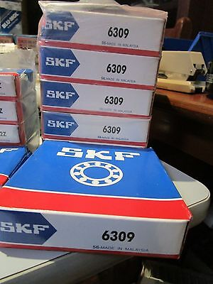 Skf Bearing 6309  X 5 , New Old Stock.