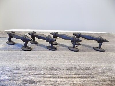 4 Handles Rustic Cast Iron Antique Style Barn Gate Pulls Drawer Door Shed Fence