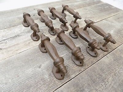 8 Handles Rustic Cast Iron Antique Style Barn Gate Pulls Drawer Door Shed Fence