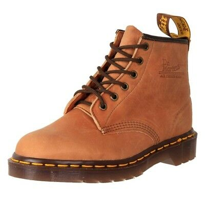 Genuine Dr. Martens Unisex Leather 6 Eyelet Ankle Boots 101 Honey Cheap