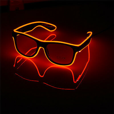 LED Light Up Wire Glow Fluorescence Eye-wear Glasses for Christmas Party lot