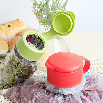 Plastic Food Storage Kitchen Airtight Sealer Reusable Bag Cap Screw Pop.