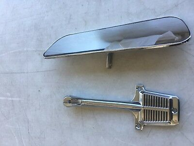 1960-1966 Chevy Pickup Truck Inside Rearview Mirror + Chrome Bracket Chevrolet