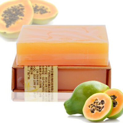 100g Organic Papaya Handmade Soap Whitening Natural Moistuirizing Beauty Soap 1X