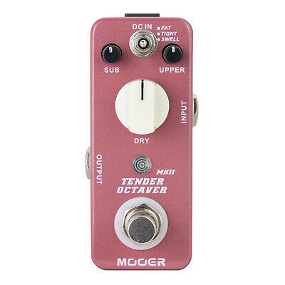New Mooer Tender Octaver MKII Precise Octave Micro Electric Guitar Effects Pedal