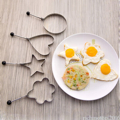 4 Pcs Loving Fried Eggs for breakfast Kitchen Tool Stainless DIY Gadgets wz03