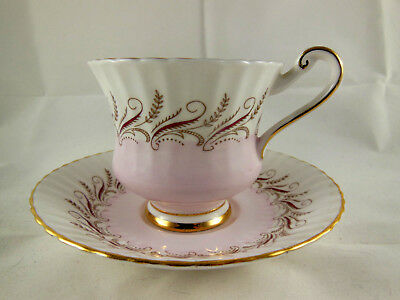 Paragon Bone China Cup Saucer Appointment to Her Majesty the Queen England pink
