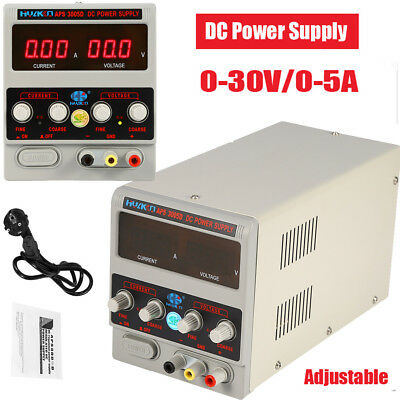 Adjustable 220V DC LED Lab Grade Regulated Variable Power Supply 0-30V and 0-5A
