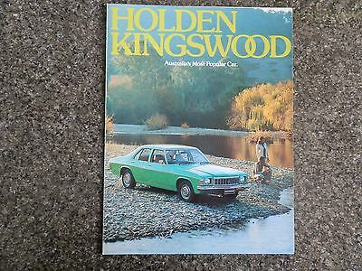 1976 Holden Hx Kingswood Sales  Brochure.  100% Guarantee.