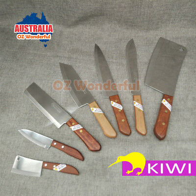 7pcs Kiwi Kitchen Knife Block Stainless Steel Cutlery Chef Knives Set