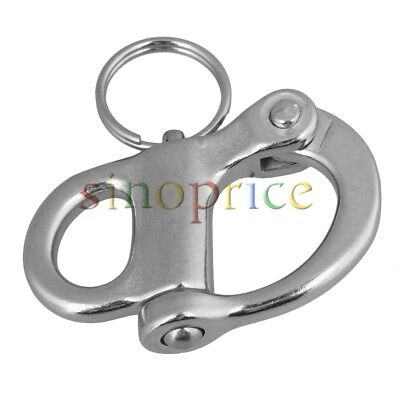 Stainless Steel Bail Snap Shackle Rigging Sailing Boat Yacht Marine Hard