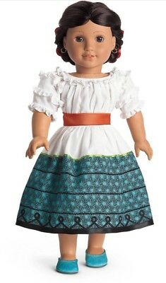 NIB Josefina Feast Birthday Dress Outfit with Sash, Ribbons, Shoes, Camisa NEW!