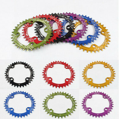 6 Colors Single Tooth Narrow Wide Bike MTB Bicycle Chainring 104BCD 32T/34T/36T