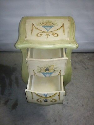 French Provincial Timber Bedside Table - Used