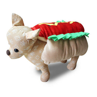 Funny Puppy Pet Dog Hot Dog Costume Halloween Christmas Cosplay Clothes Groovy