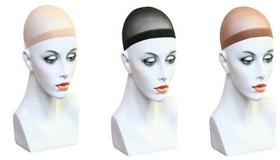 2 x WIG CAPS BREATHABLE STOCKING NYLON STRETCH HAIR LINER UNISEX NEW