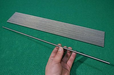 "6mm Dia Titanium 6al-4v round bar .236"" x 20"" Ti Grade 5 rod Solid Metal 15pcs"