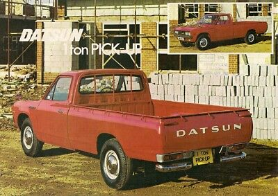 Datsun Nissan 1500 1 Ton Pick-Up 1976-77 UK Market Leaflet Sales Brochure